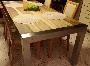 Rozsdamentes asztal kültéri és beltéri használatra